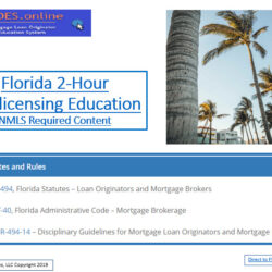 2 Hour FLORIDA SAFE NMLS PE Mortgage Loan Originator ID# 11185