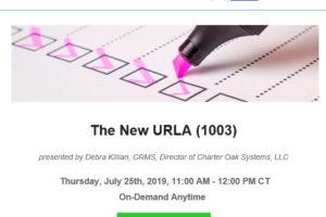CBANC NEW URLA 07-25-19