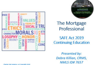 NAMB Late 8 Hour SAFE Comprehensive Federal CE 2019 – The Mortgage Professional Copy