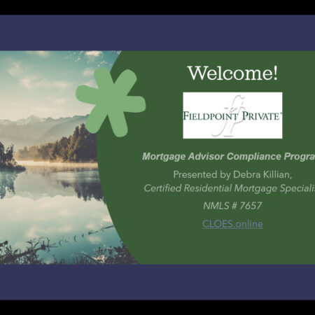 Mortgage Advisor Compliance Program